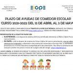 AYUDAS COMEDOR ESCOLAR CURSO 2021-2022
